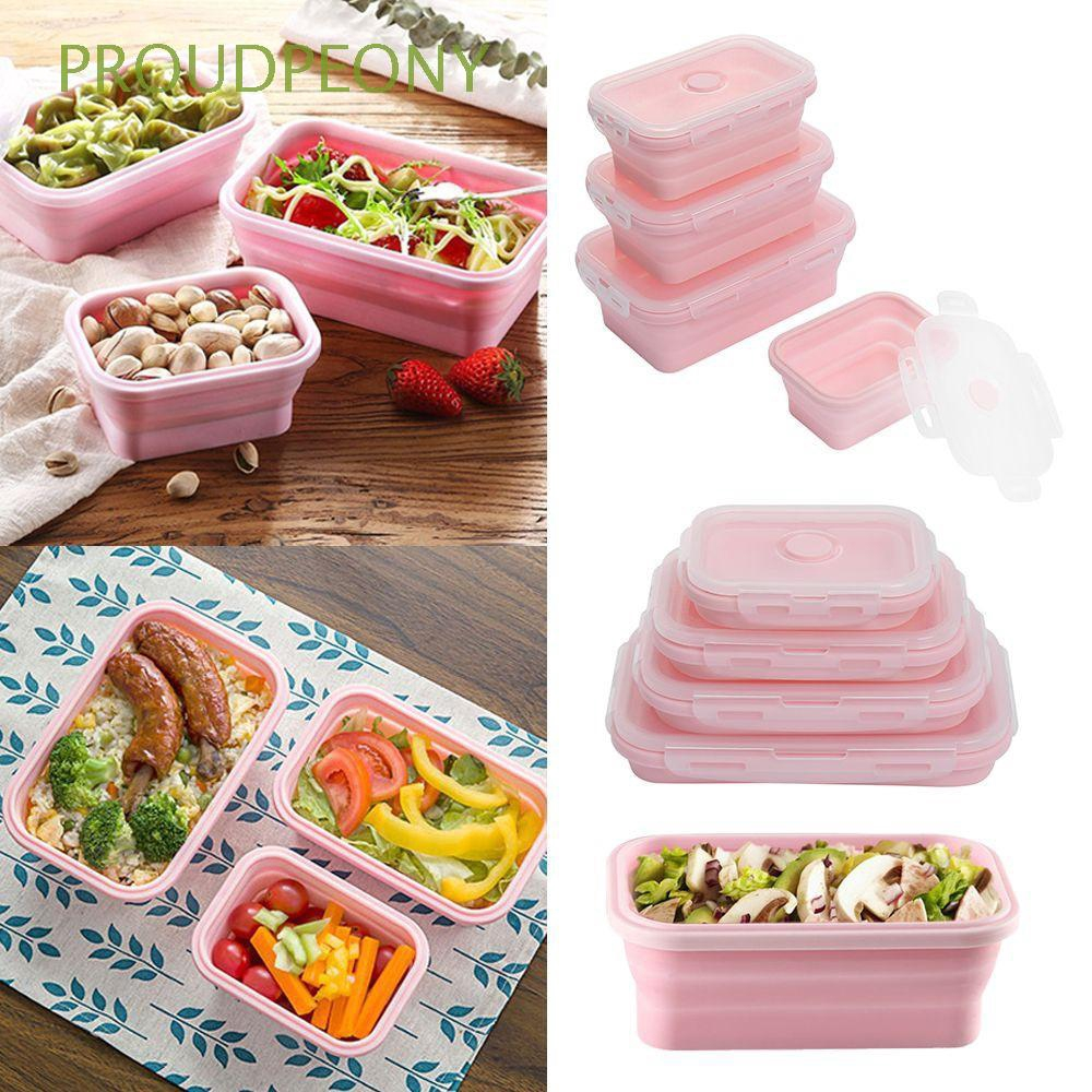 e7fd22081a5c Storage Folding Lunchbox Collapsible Bowl Silicone Food Container Picnic  Boxes