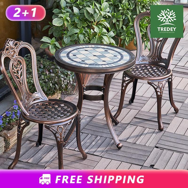 1 Tea Table For Balcony Patio Terrace, Patio Furniture Table