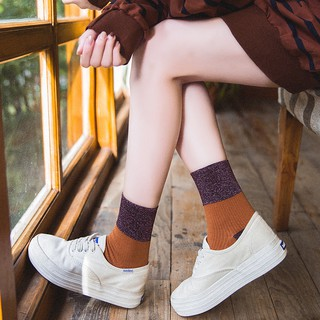 37c6871e7 Women s Socks Cotton Japanese Tube Socks College Wind Korean version of  gold and
