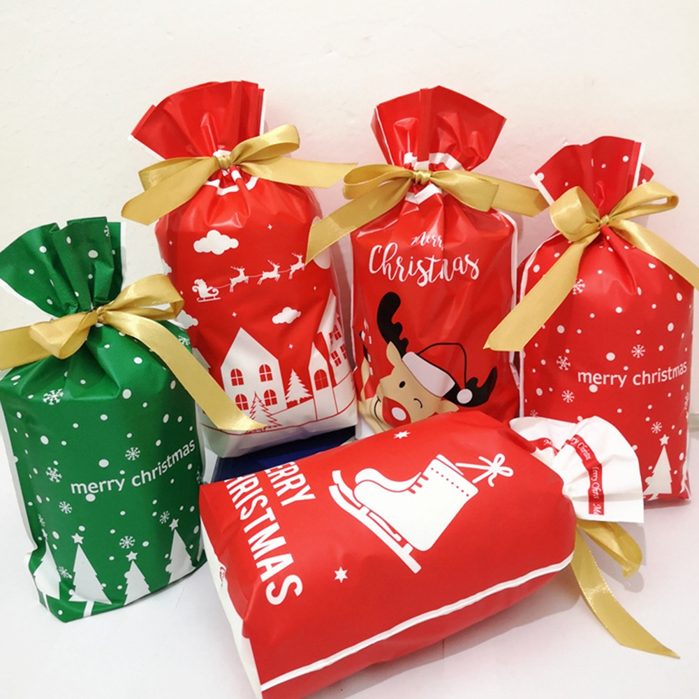 50pcs Christmas Cellophane Gift Bags Cookies Candy Package Wedding Party Bag