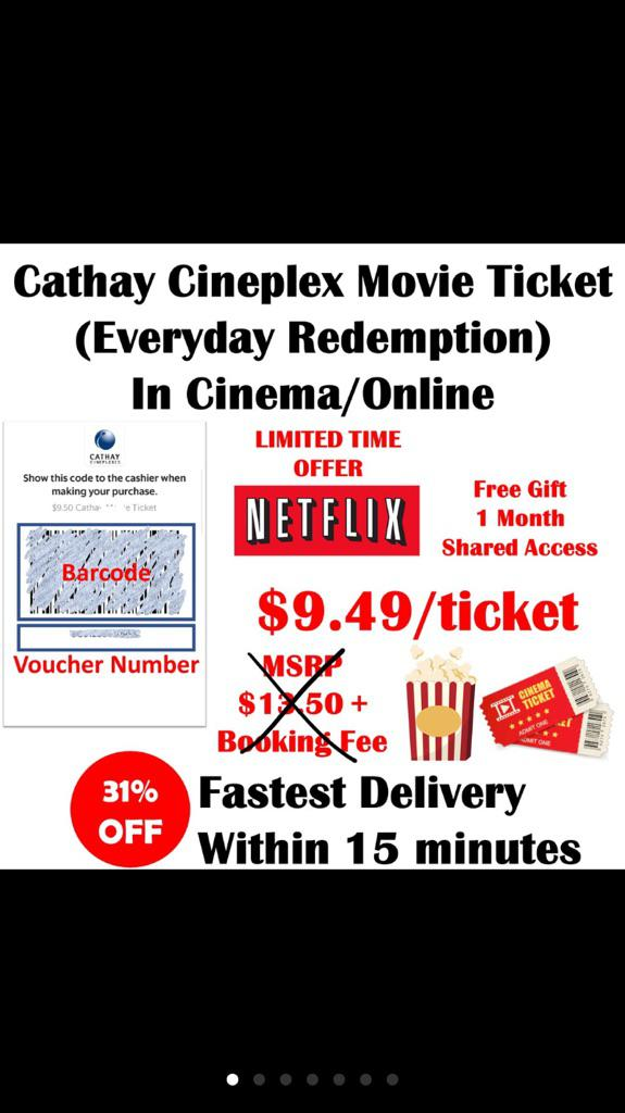 Cathay Cineplex Everyday Movie Ticket Voucher Online