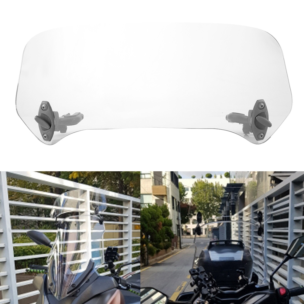 Universal Motorcycle Modified Windscreen Windshield Spoiler Air Deflector Transparent Windscreen