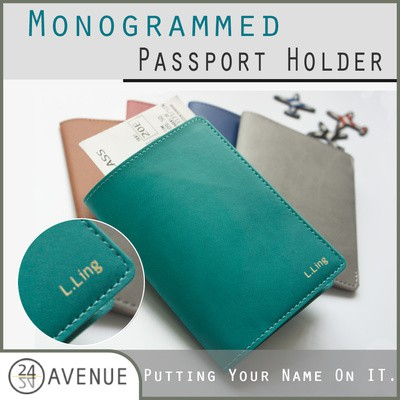 84adabaa39ca Monogrammed Passport Holder / Travel Organizer