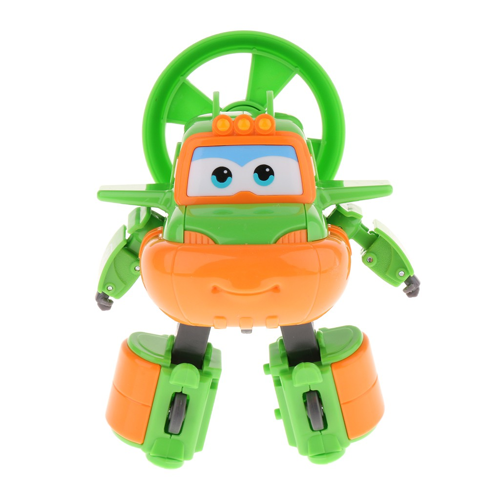 Large Super Wings Character Figures Robot Transforming Vehicle Toy Xmas Gift