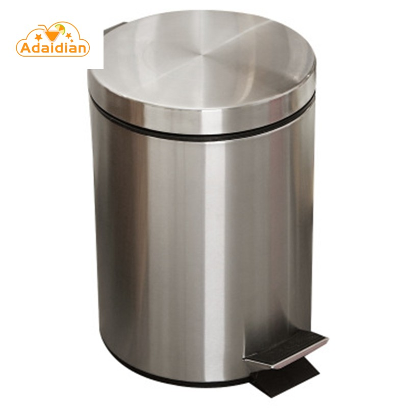 Trash Can Round Step Foot Pedal Dustbin