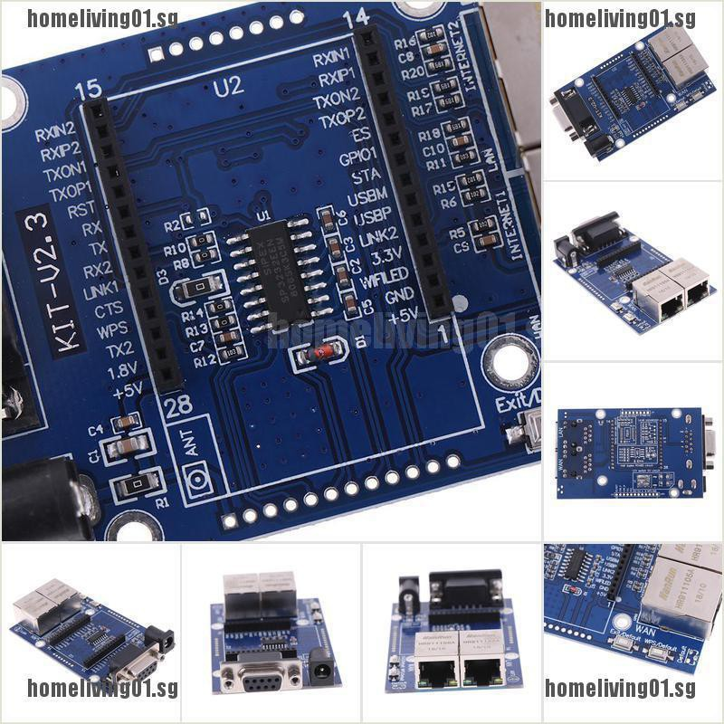 HLK-RM04 #FULL SET# TCP IP Ethernet Adapter Module Serial UART RS232 to LAN WIFI