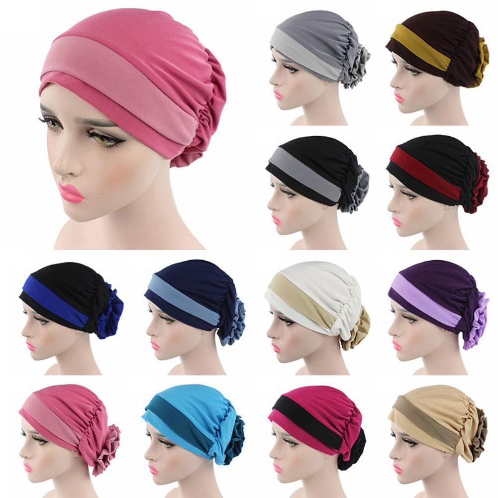 c70db799b6e0e Stretch Velvet Head Wrap Hair Loss Head Scarf Women Turban Cap ...