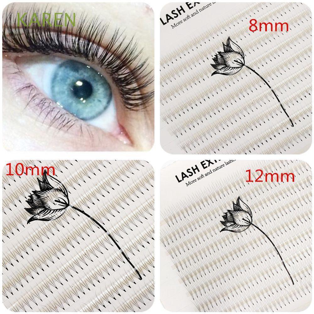 400 Pcs Cluster Individual 3D Wave Mink False Eye Lashes Eyelashes Extension