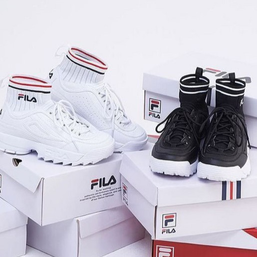 1fb0ef9f09 Korea Fila Original Disruptor II EVO Sockfit Women Shoes | Shopee Singapore