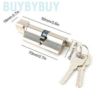 75MM 37.5//37.5Brass Key Cylinder Door Lock Barrel High Security Anti Snap FS
