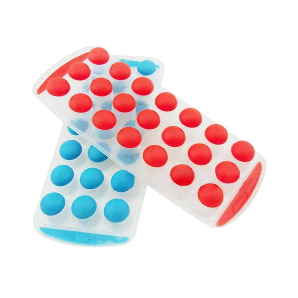 Silicone 21 Balls Dots Ice Fusion Mold Cube Lattice Tray Ice-making Box Tool