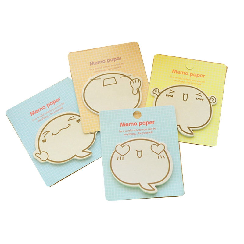 ✨New Arrival✨ Korean Cute Sticky Notes Can Tear Cartoon Message Note Paper Small Book Note Stickers
