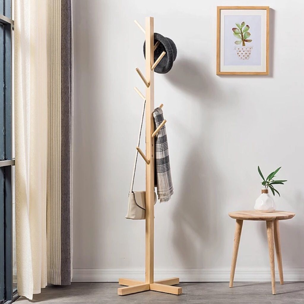 wooden clothes hanger stand ikea