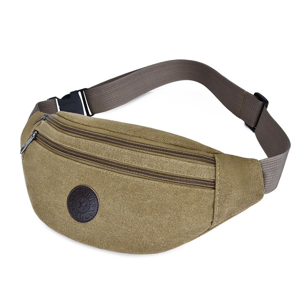 3b2275c85f35 Casual Women Men Chest Fanny Waist Packs Belt Canvas Shoulder Hip Bum Bags