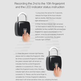 ❀MA❀Anytek P3 Smart Fingerprint Lock IP66 Waterproof