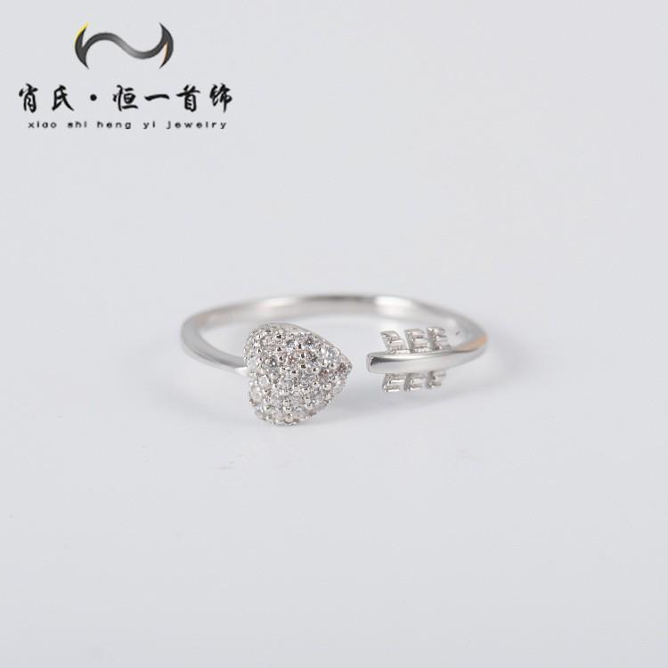 e0397e0877f23 korean version of the new fashion s925 sterling silver inlaid diamond ring