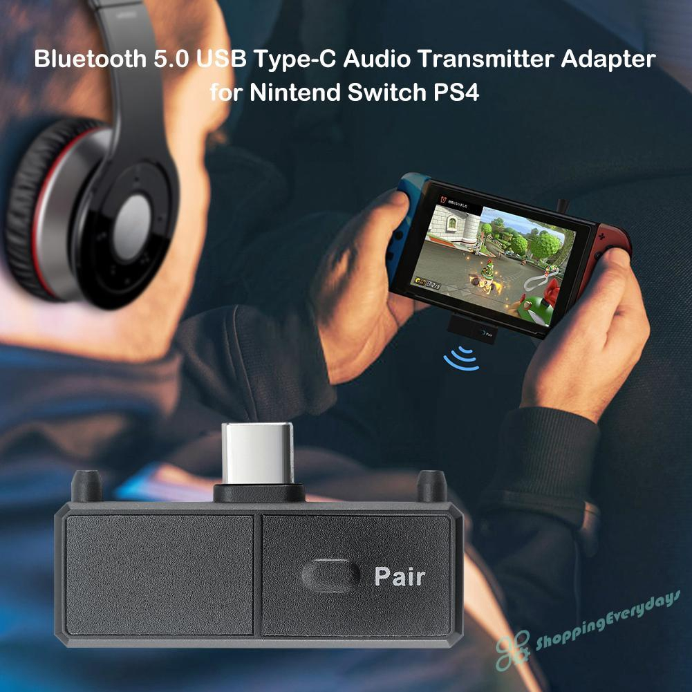 Wireless Bluetooth4.0 Type-C Audio Transmitter USB Adapter For Switch For PS4