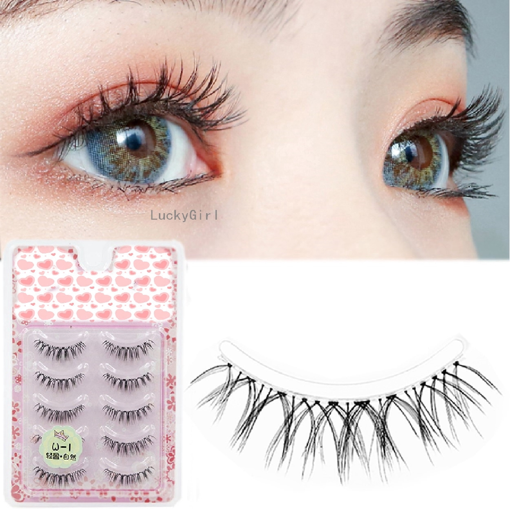 5 Pairs False Eyelashes Handmade