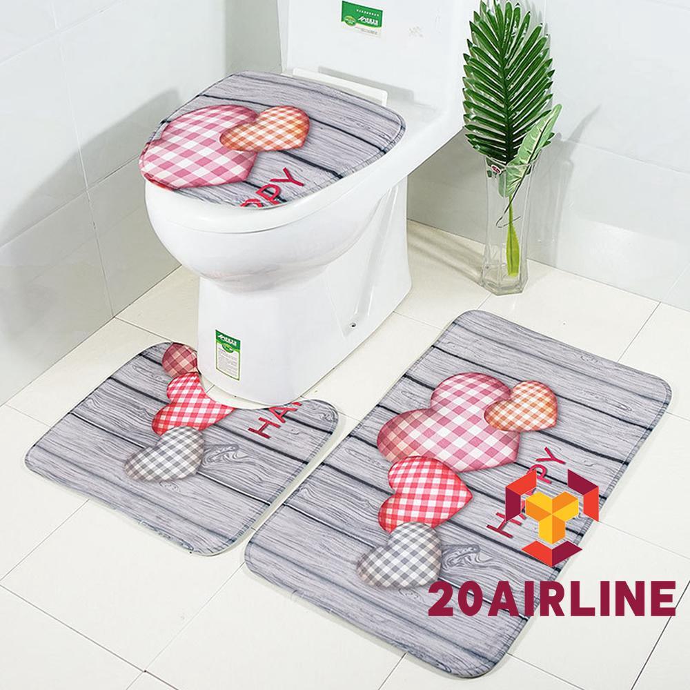 Bathroom Rug Set U Shaped Toilet