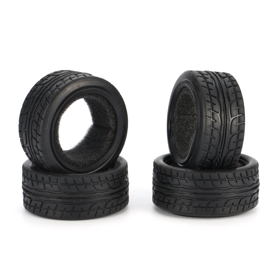 4Pcs 1/10 Grain Drift Rc On-Road Car Rubber Tires 49Mm For Tamiya