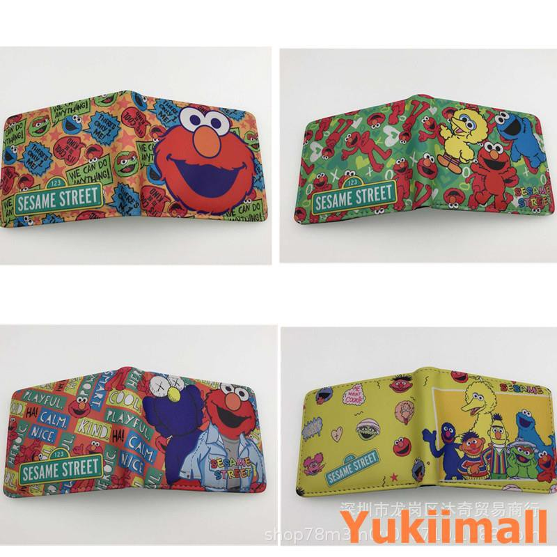 American classic cartoon Sesame Street Wallet Anime PU Wallet Wallet Anime  Stude