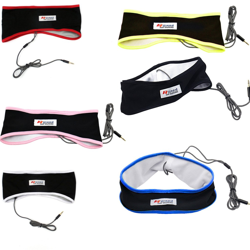Lycra Fabric Sport Headphone Breathable Sleeping Headband Wired Blindfold  Earphone Headset for iPhone 6 5 5S 4S iPad iPod Samsung Galaxy S5 Note 5  HTC