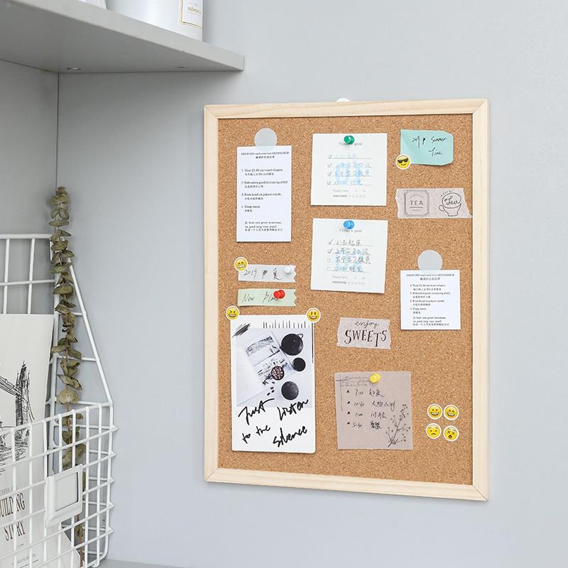 Accent Wall Cork Paper: Home Decorative Cork Board Message Board Dormitory Hanging