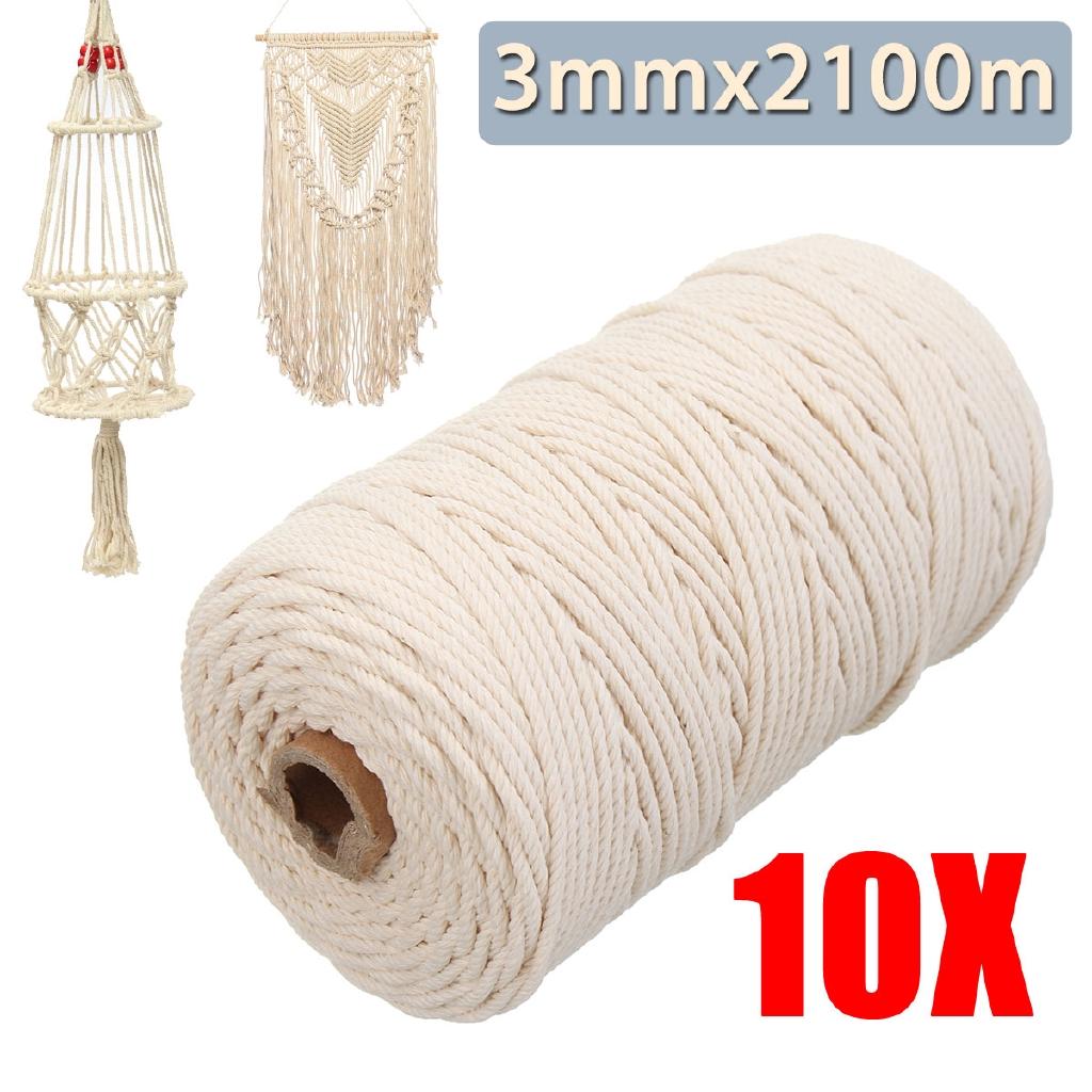 strand bracelet DIY Craft Thread Twisted Cord Cotton Rope Natural Burlap
