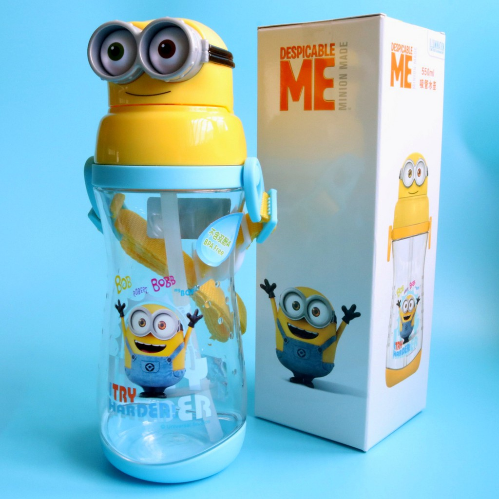 1ff97f4d60 ✳️Free Gift✳️Minions Water Bottle With Straw BPA-Free 550ml | Shopee  Singapore