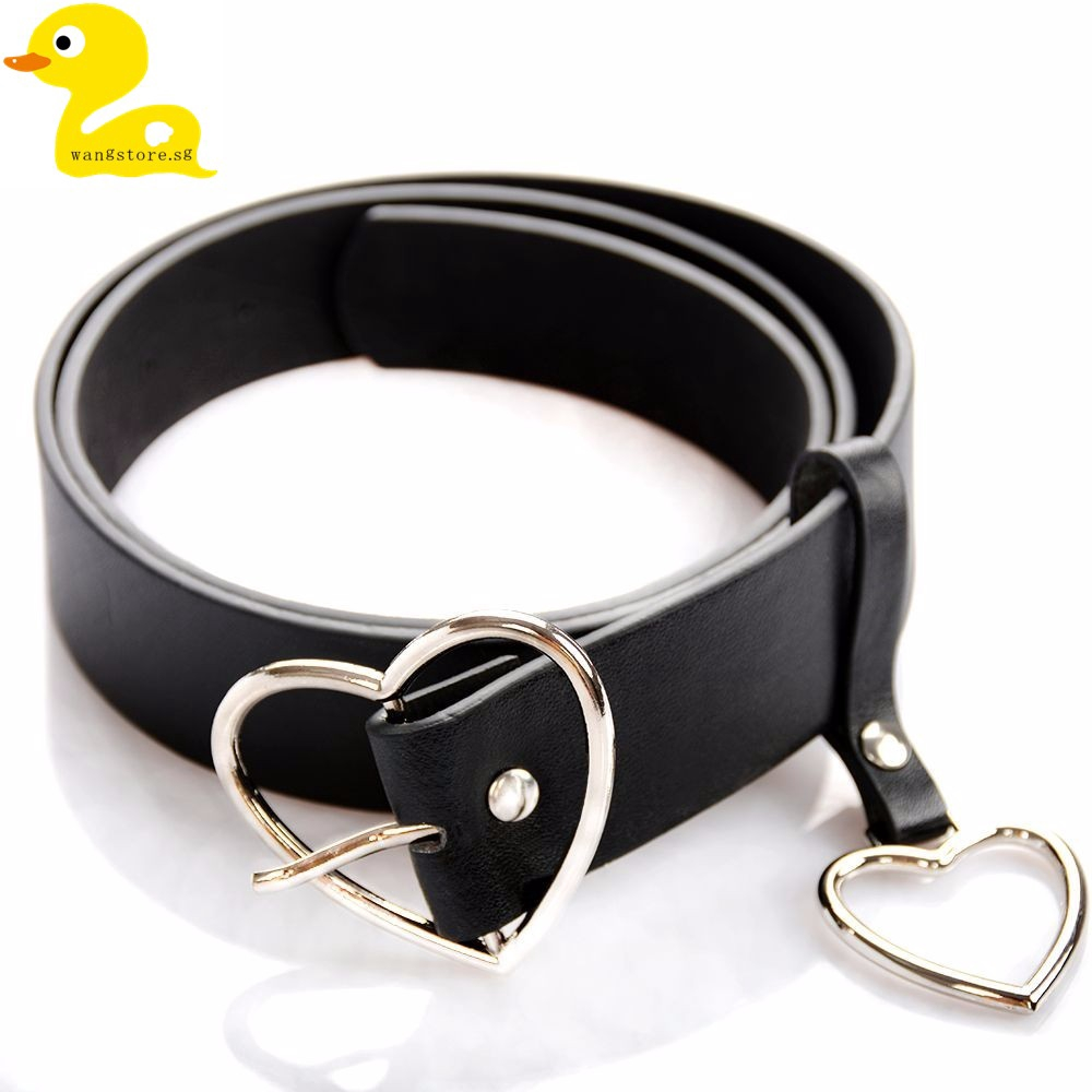 a63fd916610 Fashion Women Leather Metal Buckle Golden Silver Belt Waistband Gift  Accessory
