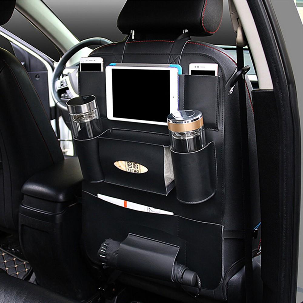 Universal Car Seat Organizer Auto Back Seat Bag Storage Accessories 7 Pockets