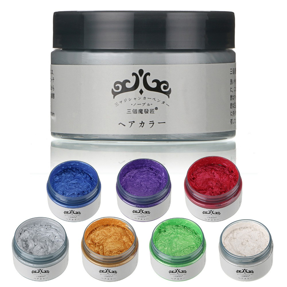 Japan Washable Colour Hair Dye Wax (7 Colour | Shopee ...