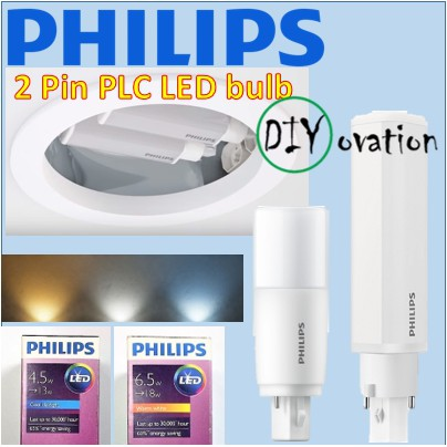 Philips Plc Led Bulb Direct Replacement For Down Light Bulb Shopee Singapore