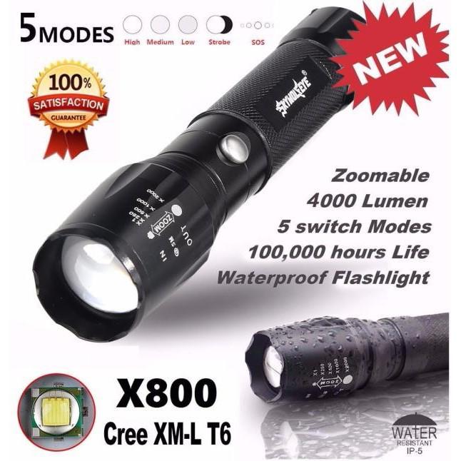 Bright 5000LM X800 CREE T6 LED Flashlight Torch Lamp G700 Light Kit   Shopee Singapore