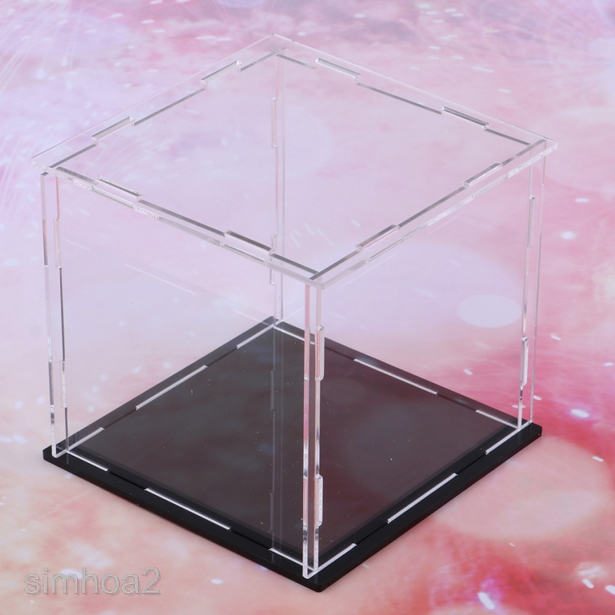 Clear Acrylic Display Box Dustproof Protection Toy Car Model Show Cube Case UK