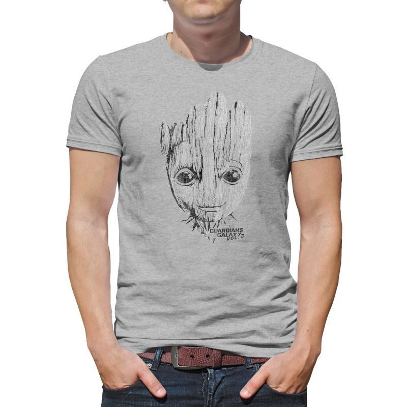 bf9dd291a Diy Men T Shirt Marvel Guardians of the Galaxy I am Groot Vol 2 T-Shirt