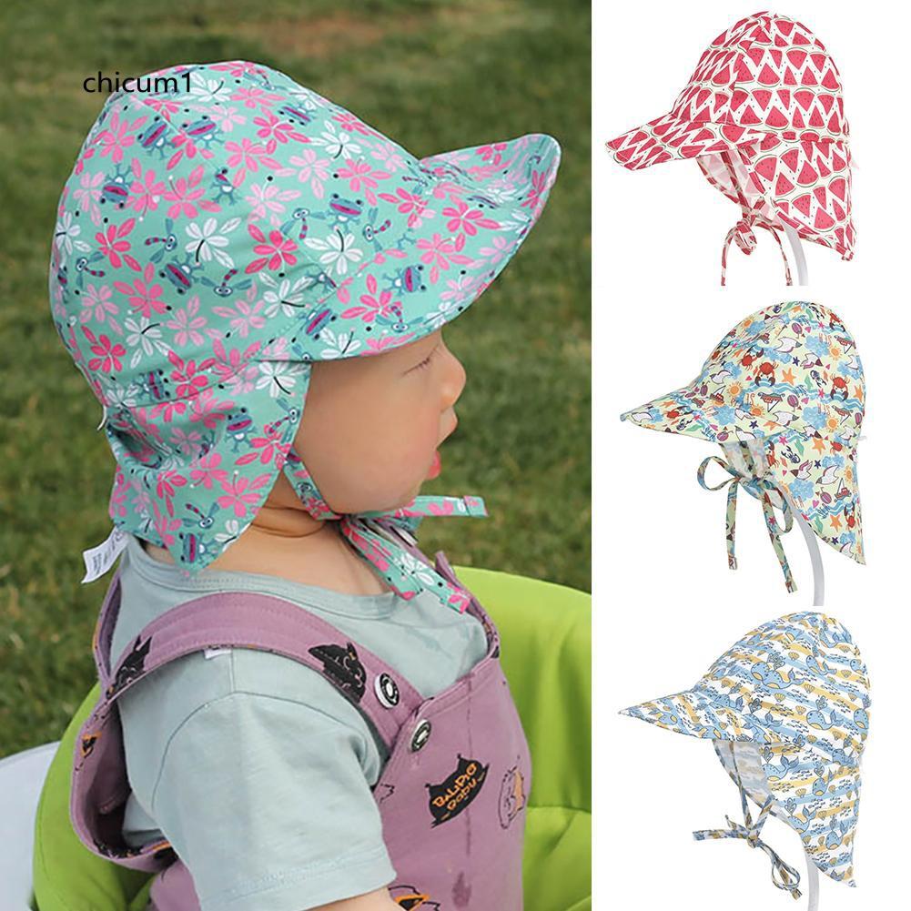 Kids Sun Hat Flap Cap Boys Girls Visor Cap Sun Protection Beach Outdoor Hat