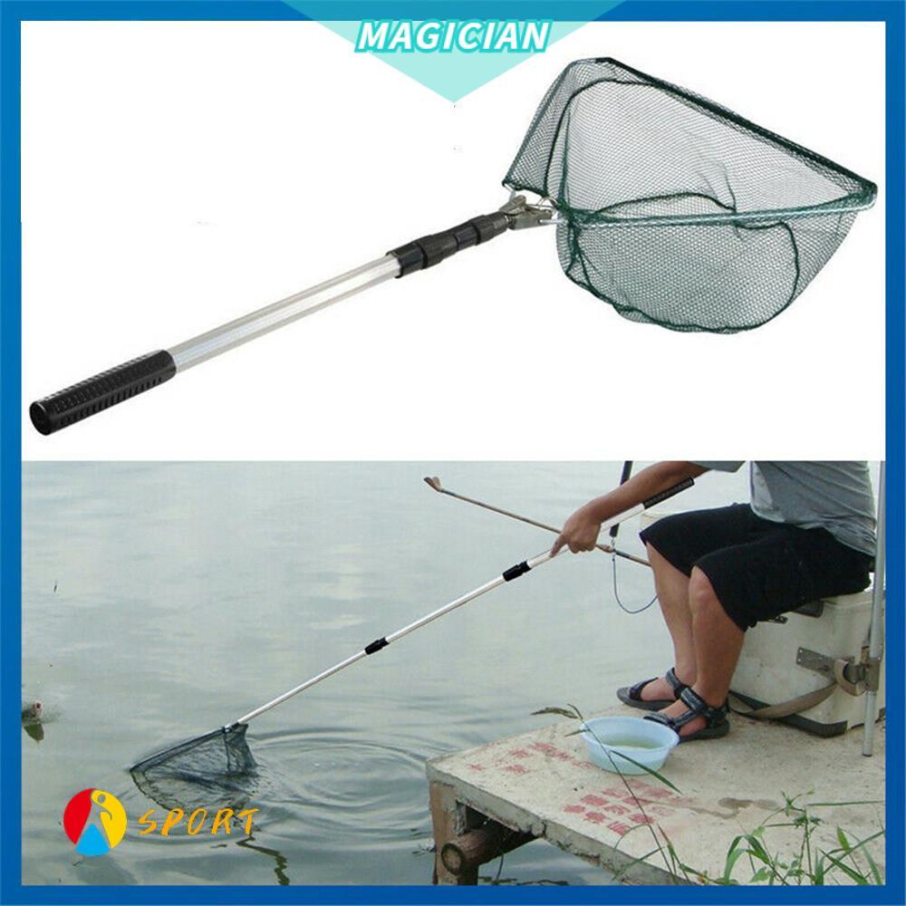 Triangular Fishing Landing Nets Trout Salmon Net Fish Trap Tele Pole Micro Mesh