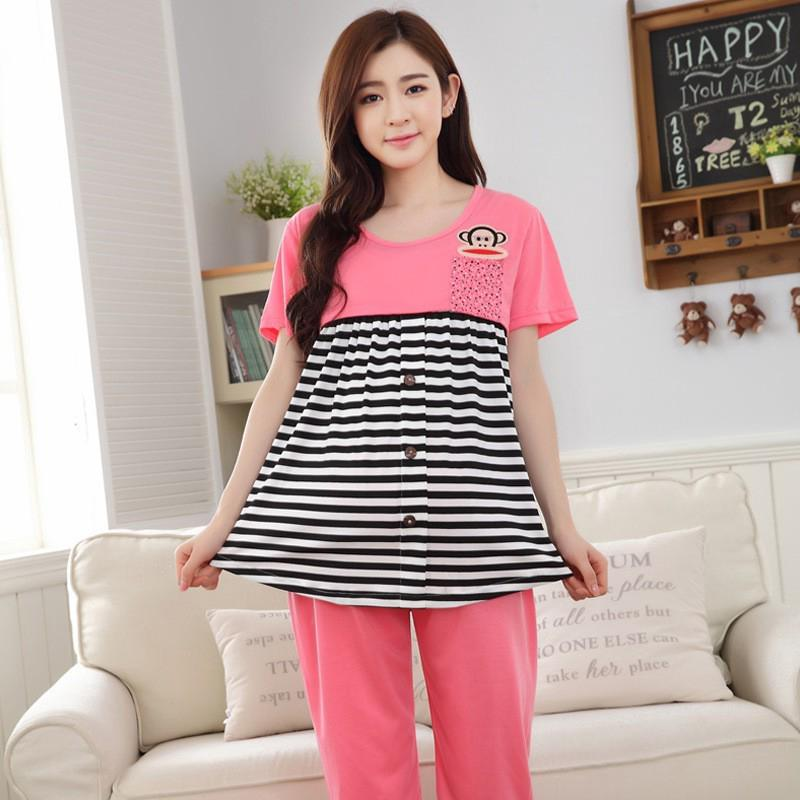 c790b8768a236 Maternity clothes breastfeeding pregnancy sleepwear pregnant nursing pajamas  | Shopee Singapore