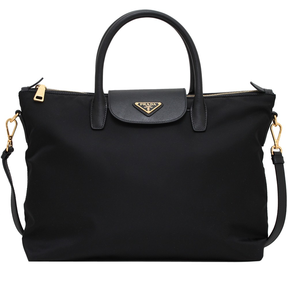 7667d7849895 Prada BN2541 Tessuto Nylon Convertible Tote Bag- Black | Shopee Singapore