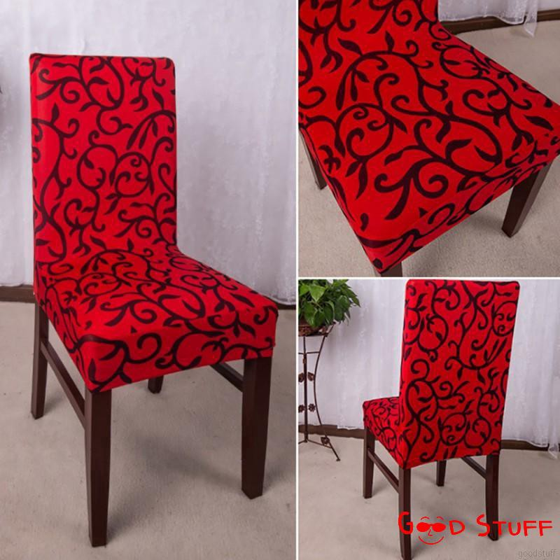 Polyester Spandex Pattern Dining Chair