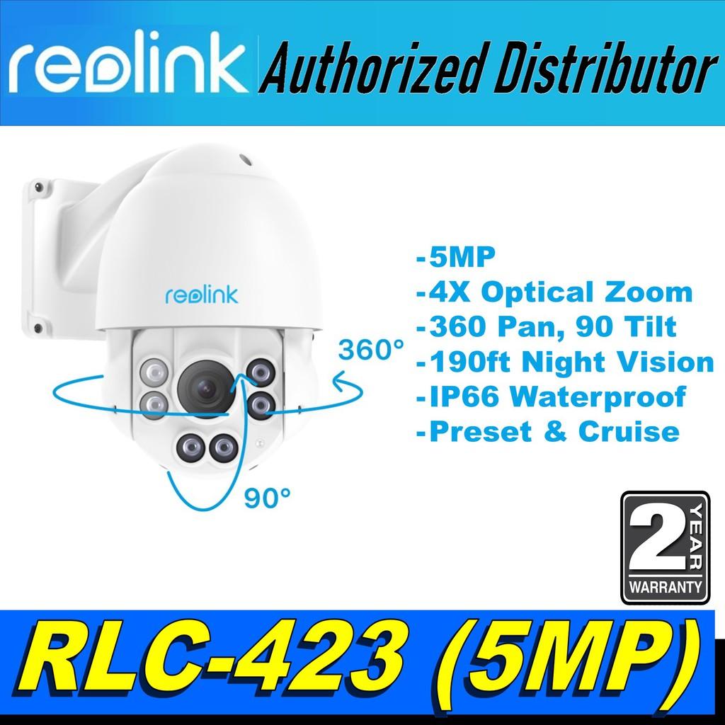 5MP PoE IP Security Camera Pan Tilt 4x Optical Zoom PTZ Outdoor Cruise RLC-423