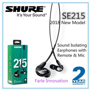 Shure SE215 UNI Sound Isolating Earphones with Remote & Mic for iOS/Android