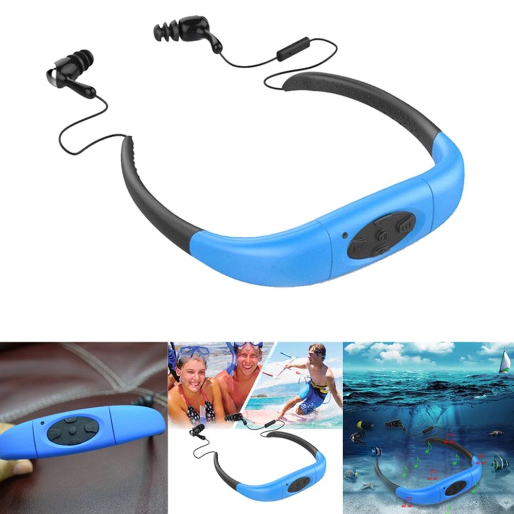 Sport Waterproof 8GB Swimming Diving Underwater MP3 Music Player w//Earphone Clip