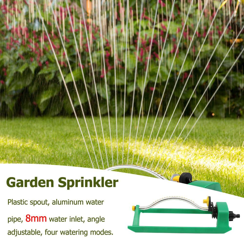 Garden Supplies Sprinkler Plastic Swing Sprayer Garden Irrigation Cleaning Tool Portable Forestry Adjustable Lawn Watering Nozzle 15 Holes Green