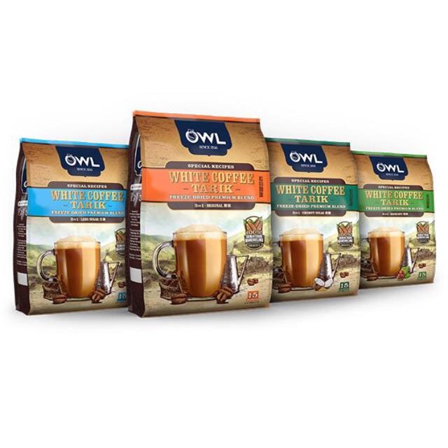 OWL 3IN1 White Coffee Tarik Original / Hazelnut / Coconut ...