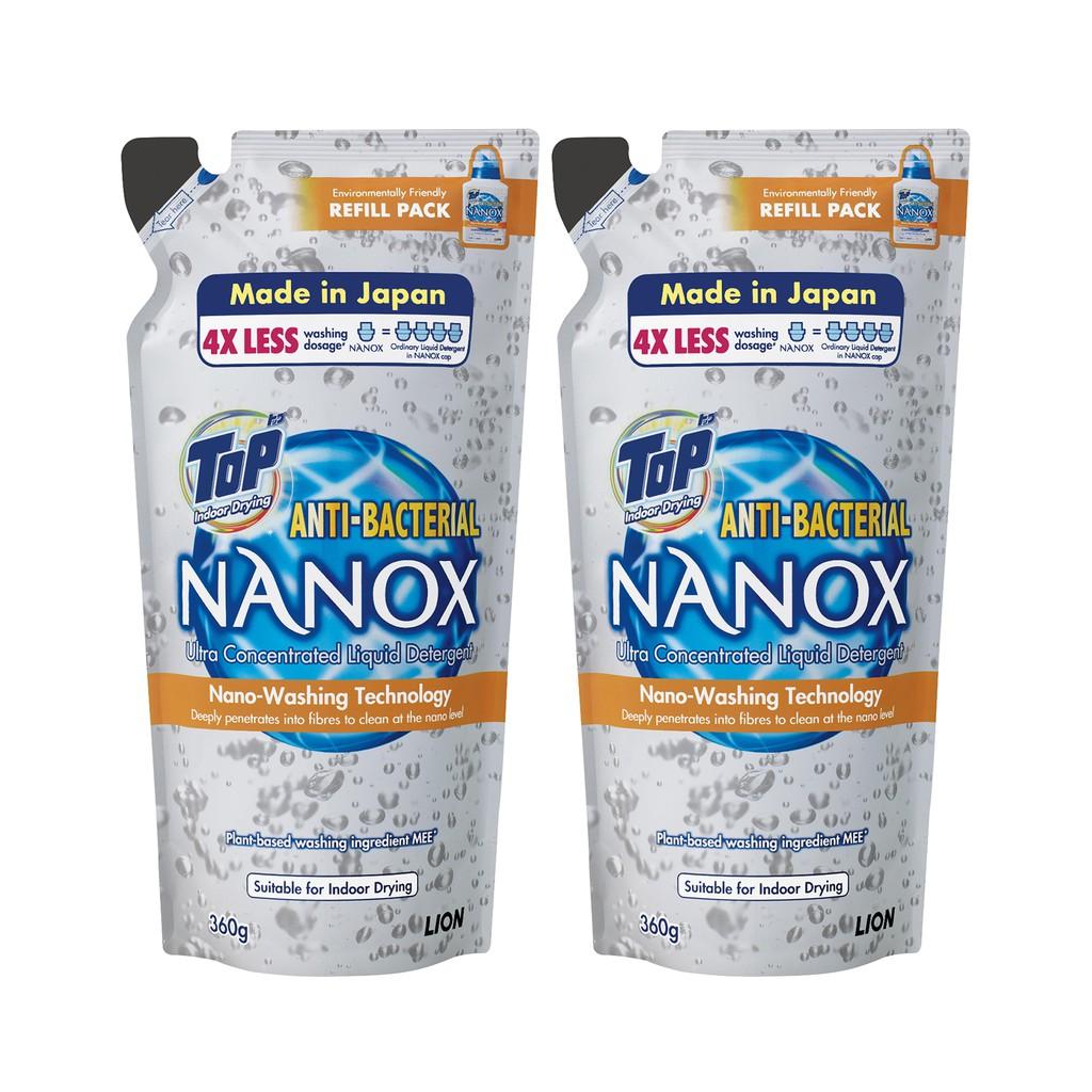 Top NANOX Ultra Concentrated Liquid Detergent Refill 360g x2