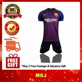 timeless design e815c 320c2 (Ready Stock) Barcelona Football Jersey Home Kit 18/19 Nike [TOP+PANTS]