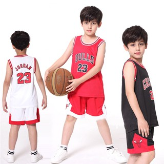 meet 8e1a3 888fb Kids Basketball Jersey Set NBA Chicago Bulls No.23 Jordan ...