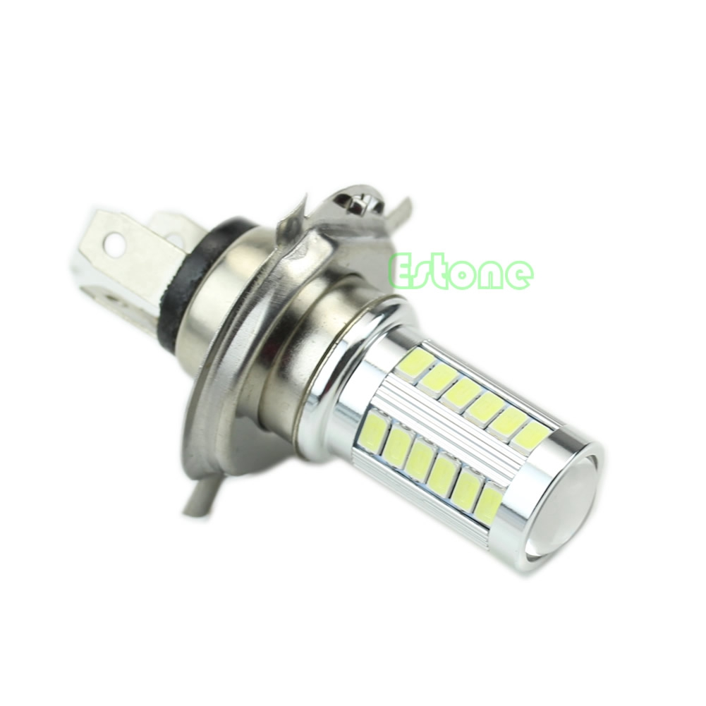 1PCS Super Bright H4 33-LED SMD White Car Fog Light Headlight Driving Lamp Bulb